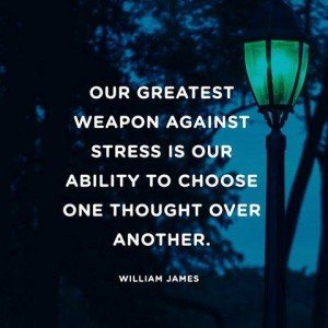 Our greatest weapon against stress...